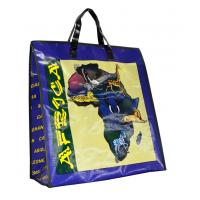 Quality Africa Map PP Woven Shopping Bags Black Edge 4c Printing Recycle for sale