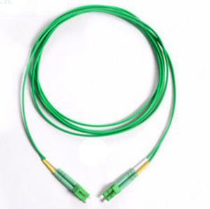 China Green Cable Fiber patch cord LC/APC-LC/APC Singlemode Duplex 3.0mm on sale