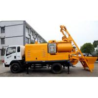 Quality Truck Batching Concrete Pump with Mixer for sale
