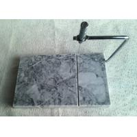 Quality Natural Marble Cheese Slicer With Board , Grey Marble Wire Cheese Slicer for sale