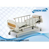 Quality Anti-Rust Intensive Care Beds , Semi Automatic Medical Bed With Castors for sale