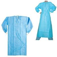 China Single Use Disposable Hospital Gowns Sterile / Non Sterile With Blue Color on sale