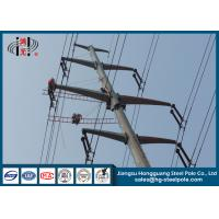 Quality 10-220KV Steel Transmission Poles For Electrical Distribution Over Headline Project Q235 for sale