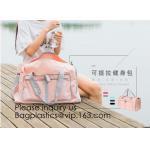 China Yoga Sports duffle bag,Travel storage bag,Water Resistant Nylon Fabric,Travel cosmetic bag sensor wall lights travel duf for sale