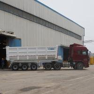Quality End dumper trailer prices dumping trailer U-shape dump trailer for sale for sale