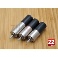 China 24V DC Reduction Gearbox DC Gear Motor , 22mm Diameter Planetary Drive Gear Motor on sale