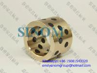 Buy cheap Oilless Bush,Bronze of Solid Lubricants,Graphite inlaid Oiles Bronze Bushing from Wholesalers