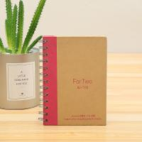 Buy Customize kraft notebook/spiral notebook with colored paper,offset paper and white board paper at wholesale prices
