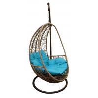 Quality Hanging Resin Wicker swing Egg Chair & Stand & Cushion for sale