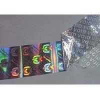 Tamper Evident Void Hologram Sticker / Hot Stamp Stickers Glossy Varnish