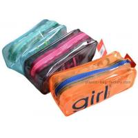Quality Orange / Green Household Storage Bags With Nylon Zipper For Gadget Accessories for sale