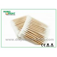 """Quality Single / Double Head Hospital Disposable Products Surgical Wooden Cotton Swabs 3"""" for sale"""
