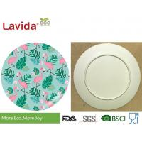 Quality Mix Colors Bamboo Fiber Dinnerware Dishwasher Safe Nature Style Flamingo Bird Pattern for sale