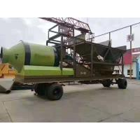 Quality Diesel Engine Universal Batching Plant , 20km / H Twin Shaft Mixer Batching Plant for sale