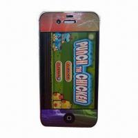 Quality Color Screen Protector for iPhone 4, High-transparent, Anti-scratch, Washable and Reusable for sale
