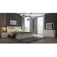 Quality White High Gloss Bedroom Furniture / King Bed Headborad with Flap Door for sale