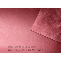 Quality Good quality genuine leather handfeeling  PVC suede backing for shoes and bags making for sale