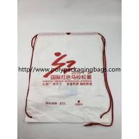 Quality Two Layer CPE / LDPE Plastic Drawstring Backpack Bags With Logo for sale