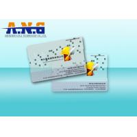 Quality Clear Custom Printed Cards PVC Transparent Business Cards 85.5×54×0.76mm for sale