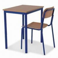 Single student desk and chair set with steel frame and mdf - Student desk and chair set ...