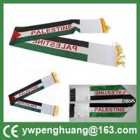 China cheap colorful  palestine scarf customized polyester scarf palestinian scarf hot sale world cup fan scarf football scarf on sale