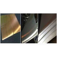 Buy cheap Black Ti 316L Stainless Steel Sheet / 316l SS Sheet NO.3 Finish Surface from wholesalers