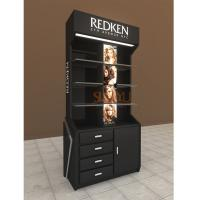 Quality Retail POS Cosmetic Organizer CountertopKiosk Full Set Display Stand With Drawer And Tray for sale