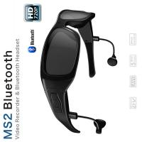 Quality Waterproof Bluetooth Spy Gadgets Spy Cam Glasses With Max 32gb Card / Polarized Lens for sale