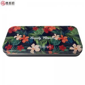 OEM rectangular cosmetic brush metal box for makeup tin can or student pencil tin boxes