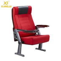 Quality Public Interior PU / Wooden Armrest Auditorium Chairs With Folded ABS Writing Table for sale