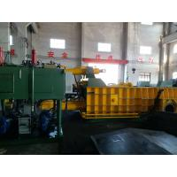 Double Main Cylinder Bale Turn Out Baler Machine For Scrap Metal / Aluminum