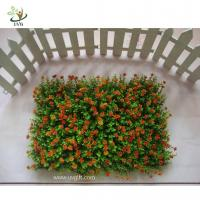 China UVG HGR02 Colorful Plastic Boxwood Mat Indoor Artificial Grass Plants Decorative Gree on sale
