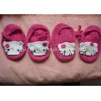 China 9cm Soft CrochetToddler Shoes Breathable 100% Acrylic Hello Kitty Pattern on sale