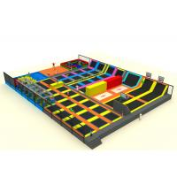 China Mall Playground Equipment Kids Trampoline Park With Nylon Mesh And Pearl Cotton on sale