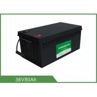 Quality Customized 36V 80AH Floor Scrubber Battery Black Color High Consistency for sale