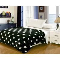 Household Bedding Fleece Flannel Blanket Color Printed With Custom Patterns