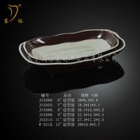 Quality Melamine Tableware brown plate melamine dish ware, plastic dinnerware plates for sale