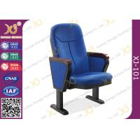Quality 560mm Center Distance Fabric Cushion Auditorium Chairs Meeting Room for sale