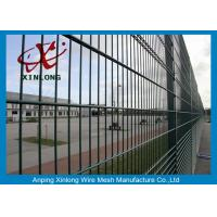 Quality Powder Coated Twin / Double Wire Fence 200*50mm Wire Mesh Fence For Country Border for sale
