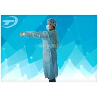 Quality Non Woven Protective Spunbonded Disposable Isolation Gowns Polypropylene 120*140cm for sale