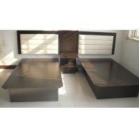 Quality Black Hotel Style Bedroom Furniture , Inn Furniture Double Beds With Headboard for sale
