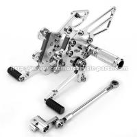 Quality Silver / Black Motorcycle Rear Sets Deeply Knurled Brake Pedal Treatment for sale