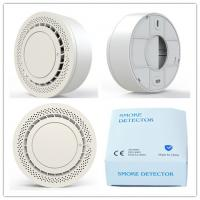 Quality Standalone fire alarm with white color ,sound and light alert,DC3V battery ,detecting smoke indoor for sale