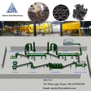 Quality 1 Ton/ hour Chicken manure organic fertilizer production line/fertilizer plant for sale