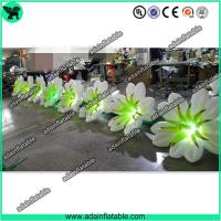 Quality 10m Inflatable Flower Chain With LED Light for sale