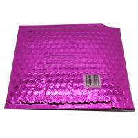 Quality Waterproof Pink Metallic Bubble Mailers Large Volume Puncture Resistant for sale