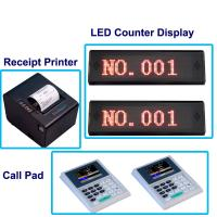 Quality Easy operation simple wireless queue management system for hospital with ticket printer and led display for sale