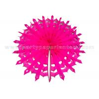 Buy cheap Snowflake Round Paper Honeycomb Balls , Party Decoration honeycomb pom poms from Wholesalers