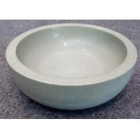 Quality Green Solid Sandstone Bowl Inside Outside Both Polished Diameter 20cm Height 7cm for sale