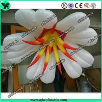 Quality Autumn Event Party Hanging Decoration Inflatable White Flower With LED Light for sale